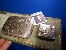 C. 1900 FRENCH ART NOUVEAU  BOXED MATCH HOLDER VESTA CASE MATCH SAFE STRIKER