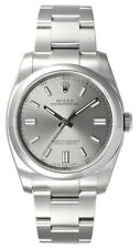 Rolex Oyster Perpetual 36 Gray Dial Index Domed Bezel Steel Men Watch 116000 New
