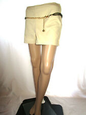 H&M Womens Casual Tailored Classic Mod Beige Cotton Hot Pants Shorts sz M AF20