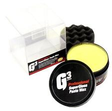 FARECLA G3 SUPERGLOSS PASTE WAX 200G SUPER GLOSS CARNAUBA PAD POLISH KIT 7177