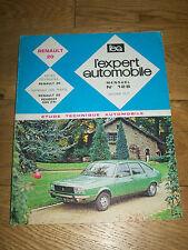 REVUE TECHNIQUE L'EXPERT AUTOMOBILE n°128 jan 1977 Renault 20 Peugeot 504