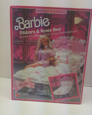 New 1987 Mattel Sweet Roses Barbie 5620 Ribbons & Roses Bed HTF Sealed NIB