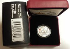 Canada 2014 $1 Silver LUCKY LOONIE Olympic London Dollar Coin (No box free ship