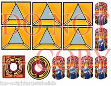 2015-DR.WHO Pinball Machine Mod  Target Cushioned Decals(WILLIAMS)