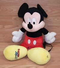 *FOR PARTS* Disney Music Mickey Mouse Speaker Plush Toy With Aux Cord **READ**