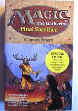 Magic The Gathering Novel: FINAL SACRIFICE (HarperPrism/1st Print/1995/New, 9.4)