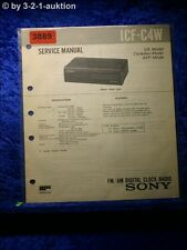 Sony Service Manual ICF C4W Clock Radio (#3889)