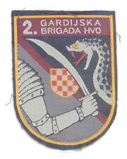CROATIA ARMY - HVO -  2nd GUARDIAN BRIGADE  type 2 patch