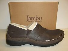 Jambu Size 6 M Ruby Fur Brown Leather Loafers New Womens Shoes