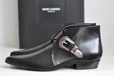NIB Auth Saint Laurent Ankle Leather Buckle Duckies Booties Boots Shoe 44 / 11
