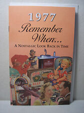 40th Birthday / Anniversary - 1977 Remember When Nostalgic Book Card  - NEW