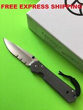 - New - Chris Reeve Knives Small Sebenza 21 S35VN Serrated Blade Titanium Handle