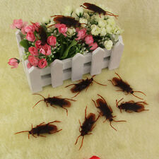 Lot 24 x Halloween Plastic Cockroaches Rubber Toy Joke Decoration Prop Realistic