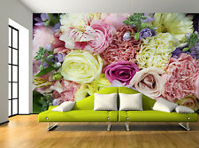 Floral Pastel Roses Flowers Pretty Wall Mural Photo Wallpaper GIANT WALL DECOR