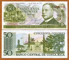 Costa Rica, 50 Colones, 12-6-1974, P-239, UNC