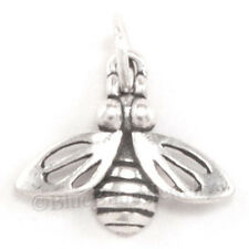 BUMBLE BEE Honey Garden Insect Pendant Charm 925 Sterling Silver