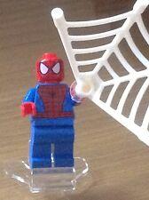 Lego Minifigure  - Marvel - Spiderman - Black Web Pattern SH038 - free postage