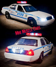 1:18 GREENLIGHT - 2001 FORD CROWN VICTORIA NYPD NY POLICE CAR LIGHTS/SOUNDS