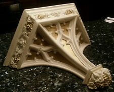 Spectacular Gothic Corbel / Sconce, Intricate Tracery with Flowers and Berries