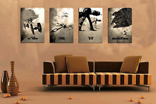 Home Decor Wall art,picture HD printed on canvas,Star Wars Inspired 4PC(No frame