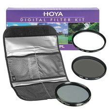 NEW HOYA Digital Filter Kit (HMC UV + CPL + ND8) 3 Filter Set with Pouch 58mm