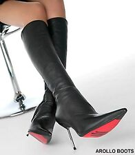 HOT - AROLLO HIGH HEEL STIEFEL STILETTO ROMA - Echtleder EU 37,38,39,40,41,42