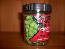 YUM Troutkrilla Trout Dough / Krilla Pellets Bait - Green Glitter - NEW!