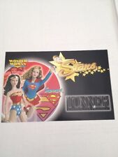 dc stars wonder woman and supergirl 2007 tonner promo