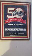 THE  FENWAY PARK TOP SPORTS BAR AT 50 YEARS (1963-2013) BASEBALL TAVERN MENU
