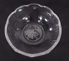 """Val St Lambert Oriental Blossom 5"""" Crystal Candy Trinket Dish 1992 Discontinued"""