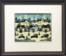 """Jane Wooster Scott """"The Party is Over"""" Newly Custom FRAMED SERIGRAPH Art America"""
