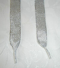 Glitter Ribbon Laces -Shoes,Trainers,Boots -Adults,Junior,Infants- Aglet Ends