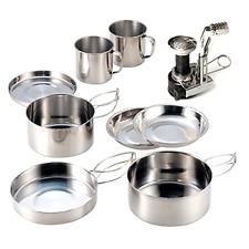 Camping Cookware AIWAYING Cooking Tool Set Pot Pan (8pcs/set, 410 Stainless Stee