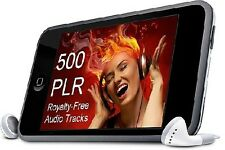 500 Royalty-Free Music Audio Tracks - Get PLR Rights + Unrestricted Use *