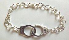 """bracelet argenté 21 cm menottes """"freedom"""""""