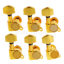 Set 6R Enclosed Electric Guitar Tuning Pegs Tuner Button Keys Gold Machine Heads