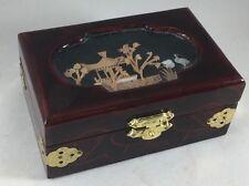 Beautiful Japanese Style Jewelry Box - Cork Decoration!