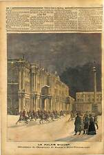 ALLEGORY  Winter Palace Saint Petersburg Impérial CAVALRY RUSSIE RUSSIA 1891