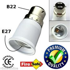 B22 to E27 LED Halogen CFL Light Base Bulb Lamp Adapter Converter Holder Socket