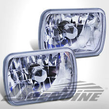7X6 CONVERSION CHROME HOUSING DIAMOND CUT HEADLIGHTS - JEEP CHEROKEE 79-01