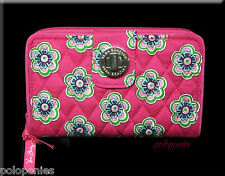 VERA BRADLEY Turn Lock Wallet - Pink Swirls Flowers Pattern NWT