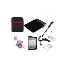 New iPad 2 Premium Bundle Pink 7 Accessory Kit Complete Set for iPad 2/3