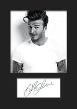 David Beckham Signed Photo A5 Mounted Print - FREE DELIVERY