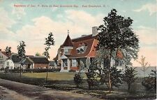 1908 Geo. F. Butts Home on Bay East Greenwich RI post card