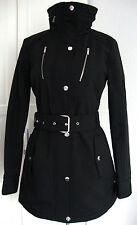 Michael Kors trench manteau veste parka Femmes Capuche Noir taille L neuf + étiquette