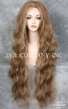 "EXTRA long 32"" Lace Front Wig HEAT SAFE Blonde Brown mix Wavy JSTA 8-27-613"