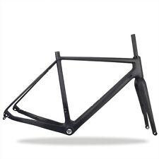 49/52/54/56/58cm Carbon Cyclocross Bike Frame with Fork&Thru Axle BSA UD Matte