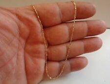 '18K YELLOW GOLD OVER 925 STERLING SILVER LADIES DESIGNER TWO TONE CHAIN /18''