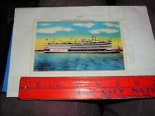 Ship SS President Mississipi River Boat steamer steel Ballroom Glass enclosed