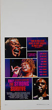 LOCANDINA, ONLY THE STRONG SURVIVE, DOCUMENTARIO SOUL MUSIC, MOVIE POSTER - C